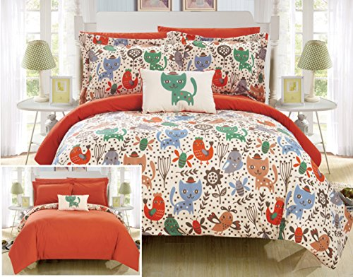 6pc Twin Tiggy Bed in a Bag Comforter Set Orange - Chic Home Design