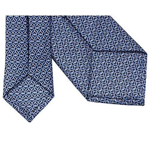 (ブルガリ)ネクタイ241909BVLGARIメンズプリントデザインダークブルー/ブルー/グレー[並行輸入品]