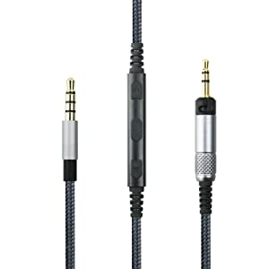 NewFantasia Cable Compatible with Sennheiser HD598, HD598 SE, HD518, HD598 Cs, HD598 SR, HD599, HD569, HD579 Headphone, Remote Volume Mic Compatible with iPhone 4.3FT