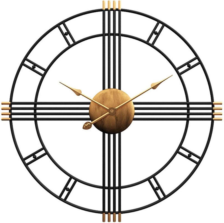 punto de venta en línea DIY wall clock Reloj de Parojo, Parojo, Parojo, Reloj de Parojo Moderno, Reloj de Parojo de Hierro Forjado, Sala de Estar, Dormitorio, Reloj de Parojo del Comedor (50X50 cm)  en venta en línea