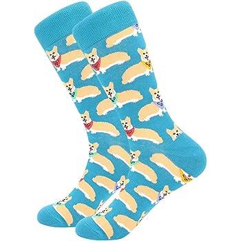 BONANGEL Chaussettes Homme Fantaisie,Lot de Chaussettes pour Hommes Coton Fantaisie Imprim¨¦ Socks 39 46 Multicolore,Cadeau Homme