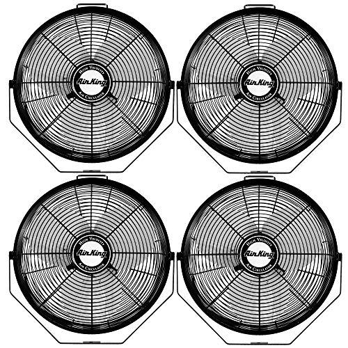 Air King 12 Inch 3 Speed 1/25 HP Motor Industrial Grade Multi-Mount Fan (4 Pack)