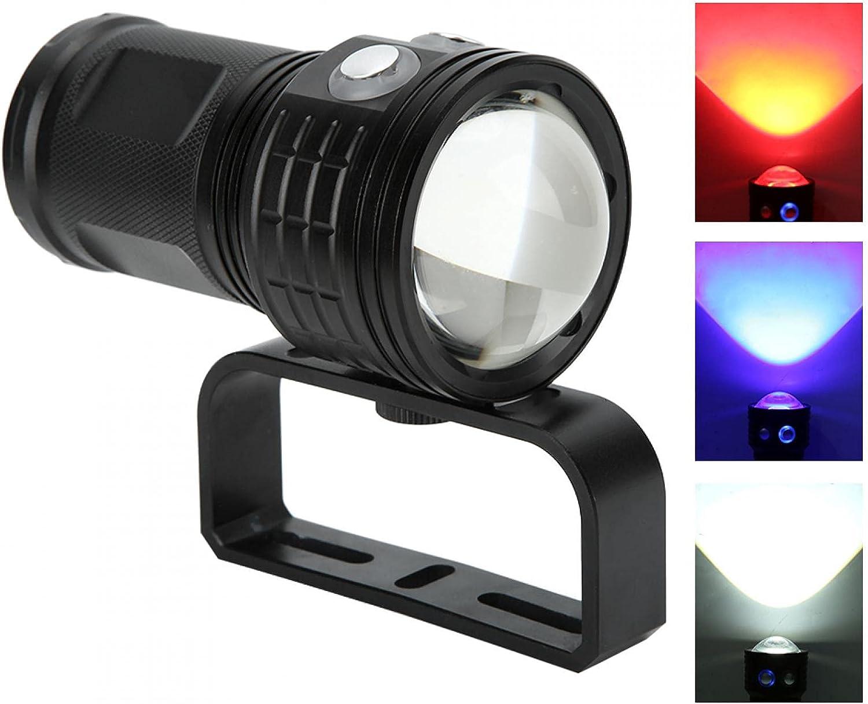 Kuuleyn Diving Flashlight QX3 Waterproof 10800LM Safety and trust Kansas City Mall LED