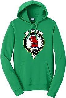 Tenacitee Men`s Scottish Clan Crest Badge Pentland Hooded Sweatshirt