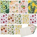 cuaderno a5 libretas Fiyuer 14 Pcs bloc de notas bonitos Pequeña Diarios de viaje libreta pequeña de bolsillo Colores Aleatorios Fruta Cubierta
