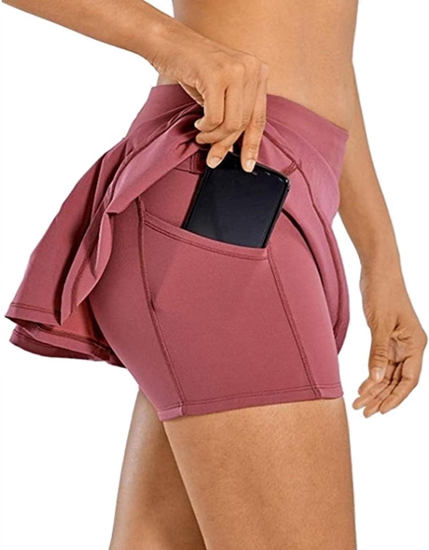 Tennis Skirt Pleated Athletic Skort Houston Mall Waisted Large-scale sale Women for Skate High