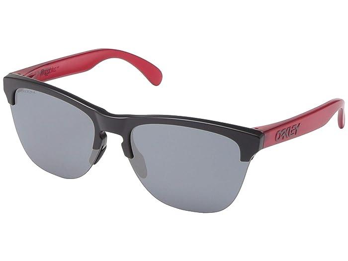 Oakley Frogskins Lite (Matte Black/Transparent Red w/ PRIZM Black) Sport Sunglasses