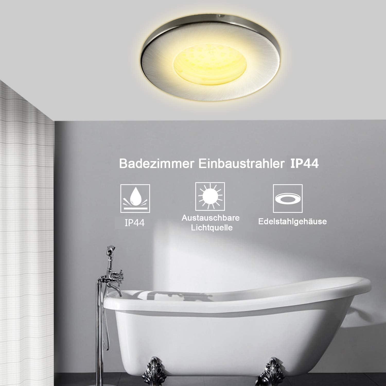 HiBay® 20er Set LED Einbaustrahler IP20 GU20 20mm 20mm Deckenspots ...