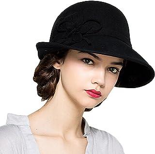 Maitose reg; Women's Wool Felt Flowers Church Bowler Hats