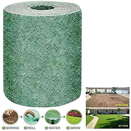 HHTX Estera de Semillas de césped Biodegradable, Estera para el Crecimiento de Semillas de césped, esteras de plántulas de jardín para Fertilizantes de jardín (20 * 300cm)