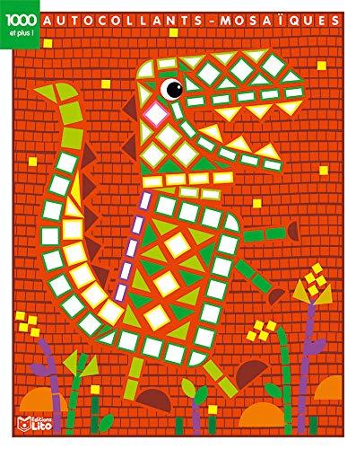 1000 autocollants mosaïques brillants: Le dinosaure - Dès 4 ans