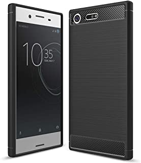 NALIA Silicone Case Compatible with Sony Xperia XZ Premium, Ultra-Thin Protective Phone Cover Rubber-Case Gel Soft Skin, Shockproof Slim Back Bumper Protector Back-Case Shell - Black