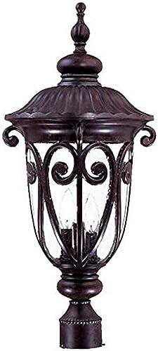 wholesale Acclaim 2127MM Naples Collection discount 3-Light outlet sale Post Mount Outdoor Light Fixture, Marbleized Mahogany online sale