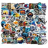Go Fishing Stickers 101PCS Outdoor Pool Fishing Vinyl Cool Bass Decals for Cars Bike Fishing Pole Laptop Scrapbook and Water Bottle