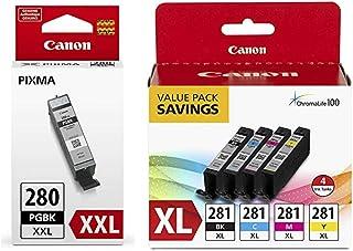 Best Canon CLI-281 XL BKCMY 4-Color Ink Tank Value Pack (2037C005) + Canon PGI-280 XXL Pigment Black Ink Tank (1967C001) Review