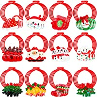 Eboot 48-Pieces Elastic Hair Christmas Tree Santa Claus Elk Hair Accessories