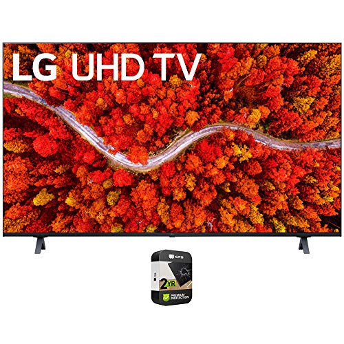 LG 43UP8000PUA 43 Inch 4K UHD Smart webOS TV 2021 Model Bundle with Premium 2 Year Extended Protection Plan