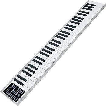 ニコマク 電子ピアノ 携帯型 SWAN 61鍵 2020年バージョン 軽量小型 本当のピアノと同じサイズ ワイヤレス長時間利用可能 練習にピッタリ 収納バッグ付き MIDI対応