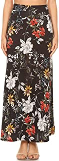 MissMissy Summer Casual Solid Print Stretchy Maxi H-Line Long Flowy Skirts S1012
