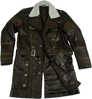 03df00e8376 Men s Fallout 4 Elder Arthur Maxson Battlecoat Brown Gaming Leather Trench  Coat