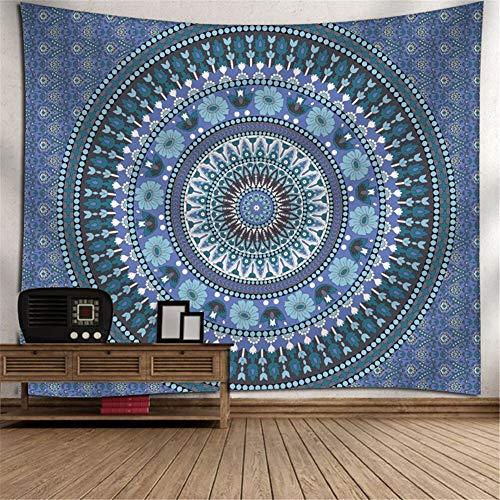 Heeboode Tapestry Wall Hanging,Tapiz psicodélico Bohemio Hippy Mandala G2802 Tapiz Dormitorio Sala de Estar hogar Tapiz de Arte,Estera de Picnic al Aire Libre de la Toalla de playa-60x90cm(23x35in)