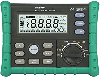 Loop Tester, Ms5910 Rcd/Loop Resistance Tester Circuit Trip-Out Current Time Detector With Usb Interface Ideal Tool For El...