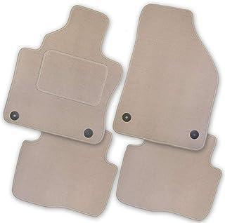 Bär AfC BM61208 Royal Auto Fußmatten Velours Beige, Rand Kettelung Beige, Textiler Trittschutz, Set 4 teilig, Passgenau für Modell Siehe Details
