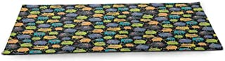funkky Alien Eco Friendly Yoga Mat Carnival of Beasts Cartoon Monsters with Different Art Styles Out of This World Theme Anti-Tear Multicolor