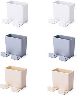 Boîte d'Organisateur Mural, 6Pcs Support de Téléphone Tenture Télécommande Support Télécommande Auto-adhésive Support pour...