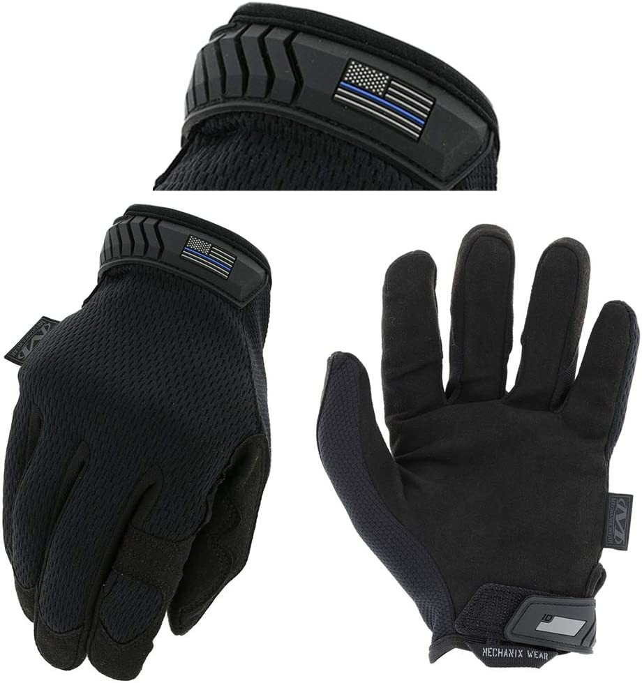 Mechanix Wear Oklahoma City Mall - Jacksonville Mall Thin Blue Line Blac Gloves Tactical Covert Large