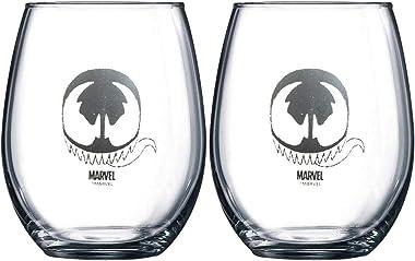 Marvel - Juego de copas de vino coleccionables (Venom)