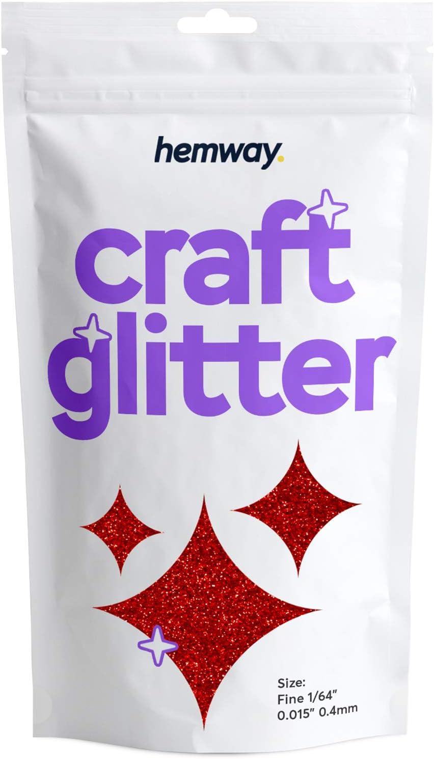 Hemway Direct store Max 55% OFF Red Craft Glitter 100g 3.5oz 1 0.015