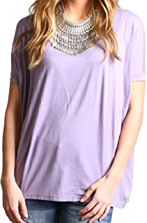 Women's Short Sleeve Top-lilac-large