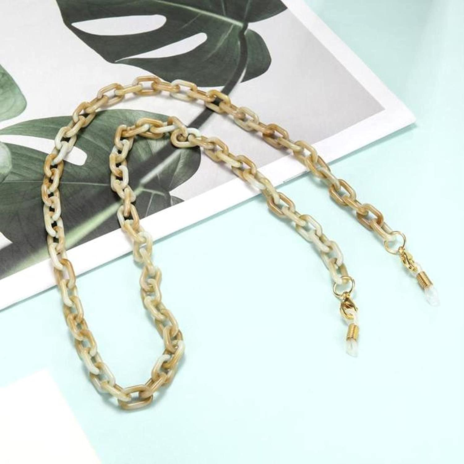 Wsnld Acrylic Chain for Necklace Glasses Chain Sunglasses Straps Lanyards Women Men Neck Chains Holder