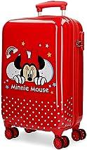 Disney Minnie Rainbow Red Cabin Suitcase 37x55x20 cm Rigid ABS Combination lock 32 Litre 2.5 Kg 4 Double Wheels Hand Luggage