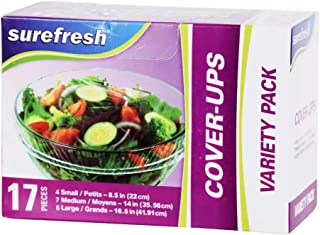 Reusable Stretch to Fit Food Covers 20 Piece Variety Pack Cover-ups for Bowls Plates Cans Cups