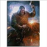 Juguetes de rompecabezas para adultos y niños The Witcher Card Game King Power Lost Warrior Duel Bear Horror Demon 1000 piezas rompecabezas de madera