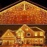 Guirnaldas Luminosas de Exterior 10M 400 LED, Cortina de luz para...
