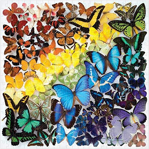 Culater Puzzle Modello Variopinto del Regalo di Festa di Puzzle dei Bambini Adulti 1000 Pezzi della Farfalla Dell'Arcobaleno (Orange)