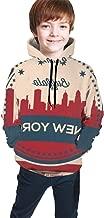 YongColer Casual Pullover Hooded Sweatshirts Streetwear for Teen Girls Boys