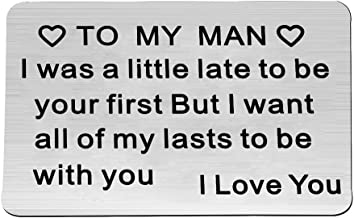 Engraved Wallet Inserts I Was a Little Late to Be Your First Love Note Card Insert To My Man Anniversary Gifts Valentine's Day Gifts
