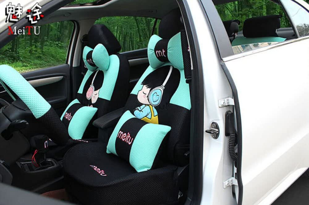 20ps New Luxury 1 Set Cute car Cartoon seat Acc Don't miss the campaign Translated Cover Female