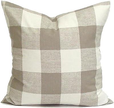 Amazon.com: FarJing Fundas de almohada, manta cuadrada negra ...