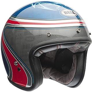 Capacete Bell Helmets Custom 500 Airtrix Heritage Azul Vermelho 56