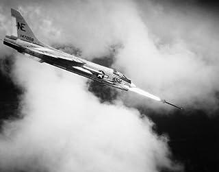 Vietnam War Crusader Jet Na US Navy Crusader Jet Fighter Fires A Zuni Rocket At A Viet Cong Target In South Vietnam Novemb...