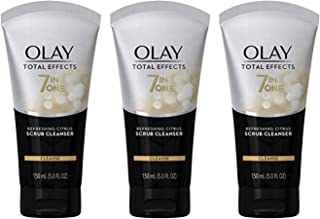 Face Wash by Olay, Total Effects Citrus Facial Cleanser and Scrub, 5.0 Ounces (Pack of 3)