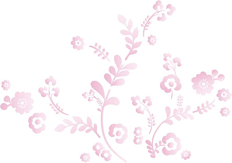 Lambs Ivy Swan Lake Wall Appliques Pink White Grey