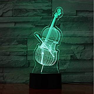 Lights & Lighting Good Led Colorful Gradients Nightlight Violin Shape 3d Table Lamp Musical Instruments Bedroom Decor Usb Sleep Light Fixture Kid Gifts