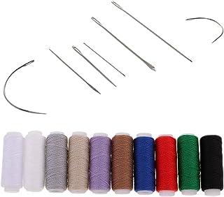 17点セット 針糸セット ジーンズ 手縫いツール 縫い糸 ミシン糸 専用カーブ針 レザークラフト 裁縫