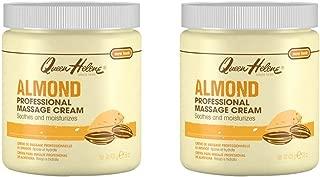 Queen Helene Jar Cream Almond Massage 15 Ounce (443ml) (2 Pack)
